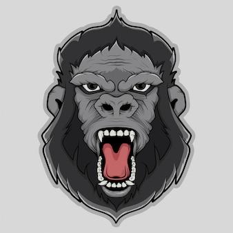 Gorilla face vector illustration