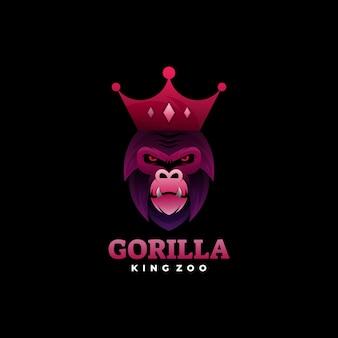 고릴라 그라디언트 다채로운 로고 스타일.