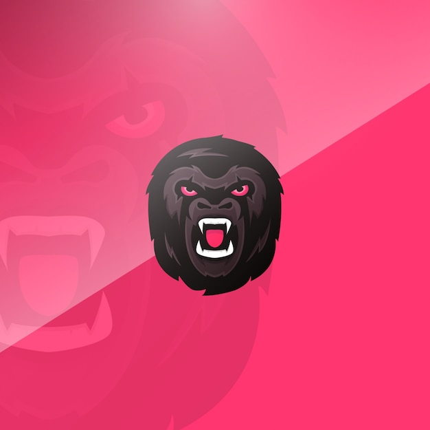 Gorilla head background