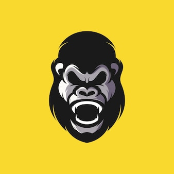 Gorilla head design illustration