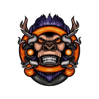 Иллюстрация головы гориллы
