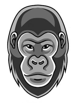 Логотип талисмана головы гориллы