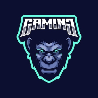 Концепция логотипа гориллы