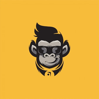 Gorilla logo design illustration vector