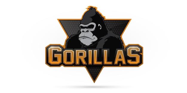 Горилла логотип для спортивной команды