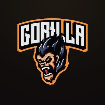 Gorilla mascot esport logo design