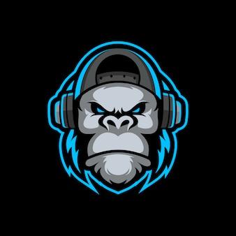 Горилла талисман киберспорт логотип