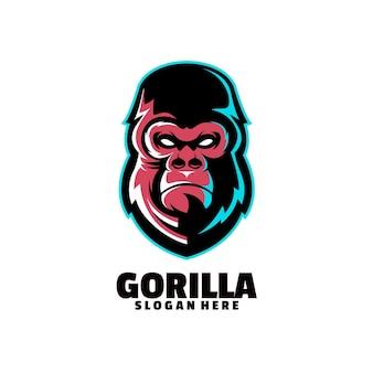 ゴリラのマスコットロゴ