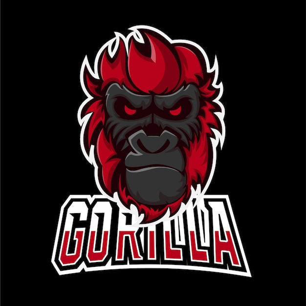 Gorilla sport and esport gaming mascot logo