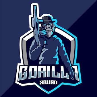 Gorillaチームのeスポーツロゴデザイン