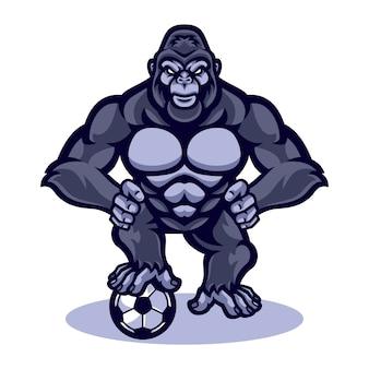 Gorilla vector mascot