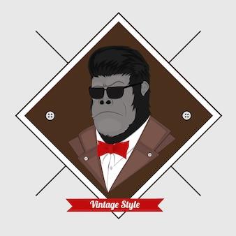 Gorilla vintage style