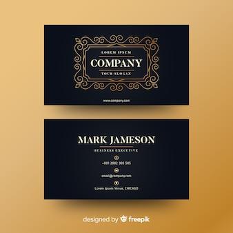Gorlden ornamental business card template