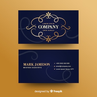 Gorlden ornamental business card template