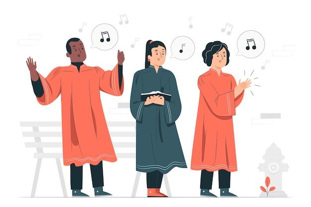 Illustrazione di concetto del coro gospel