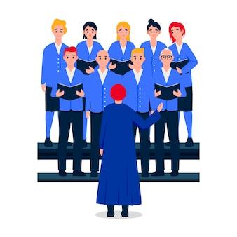 Gospel choir illustration