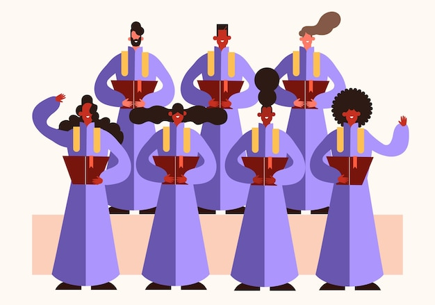 Gospel choir illustration