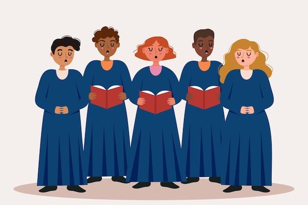 Евангелие хор иллюстрация