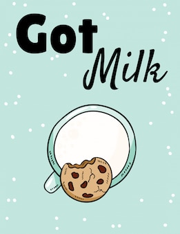Got milk phase with milk and cookie.