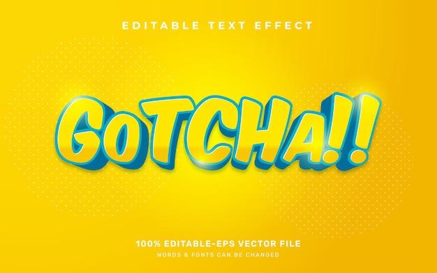 Текстовый эффект gotcha