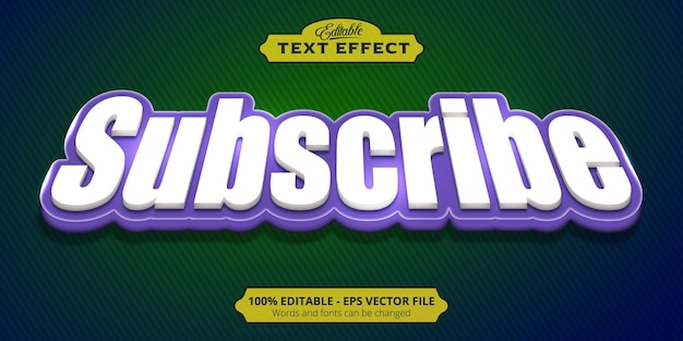 Gothic background, editable text effect, subscribe text