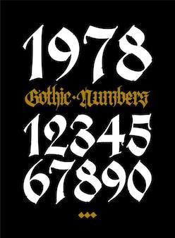 Gothic figures beautiful and stylish calligraphy