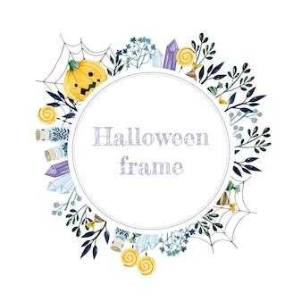 Готическая рамка на хэллоуин акварель шаблон для приглашения