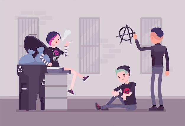 Готы и панки субкультуры уличной жизни