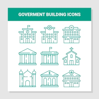 Goverment building icons