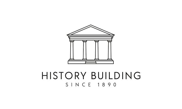 Government / columns historical building logo design