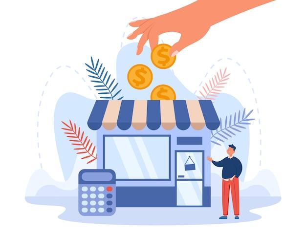 Правительство или деловой партнер, предоставляющий грант обанкротившемуся человеку