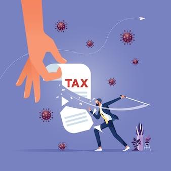 減税する政府は人々と企業が不況を乗り切るのを助けます