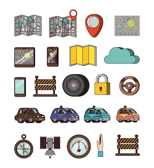 Gps application set icons
