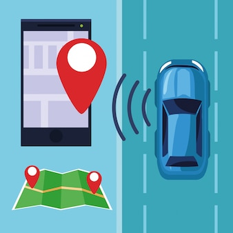 Gps location car service