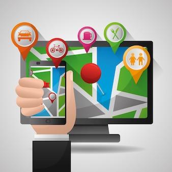 Gps навигационное приложение с поддержкой мобильных телефонов