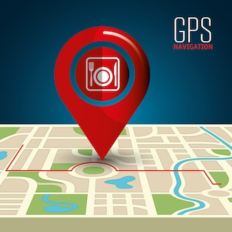 Gps navigation illustration