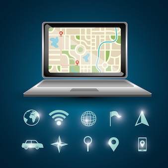 Gps navigation laptop