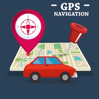 Gps navigation set icons