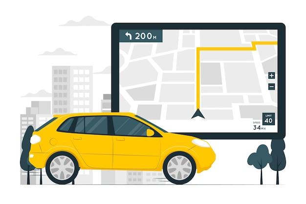 Illustrazione del concetto di navigatore gps