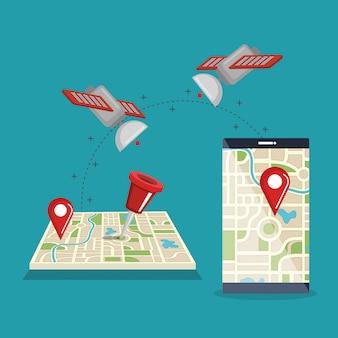 Gpsナビゲーションアプリ付きスマートフォン