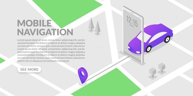 等尺性モバイルgpsナビゲーションと追跡、市内地図とマーカー