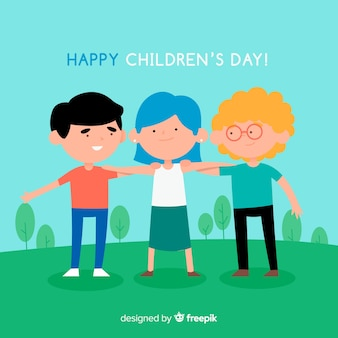 Grabbed friends childrens day background
