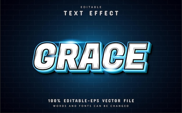 Текстовый эффект grace
