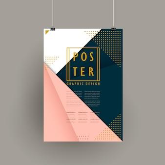 Изящный дизайн шаблона брошюры в стиле оригами