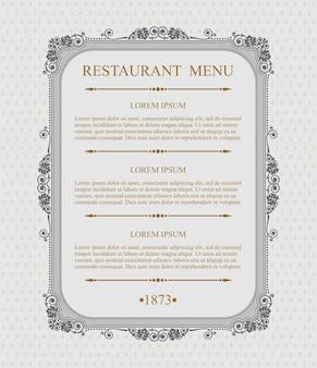 Изящное меню ресторана типографские элементы дизайна, каллиграфический изящный шаблон,