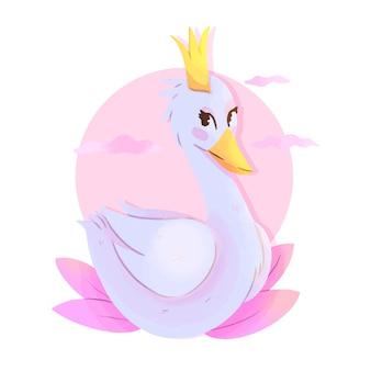 Graceful swan princess style