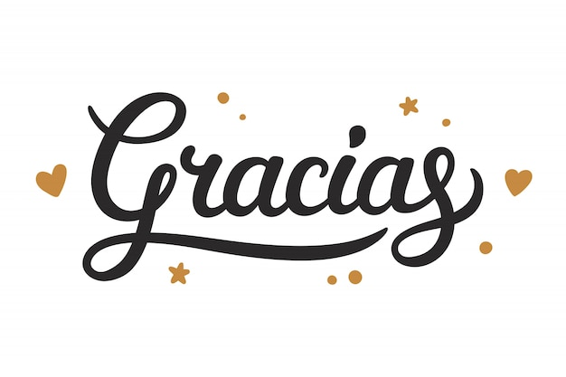 Gracias thank you lettering