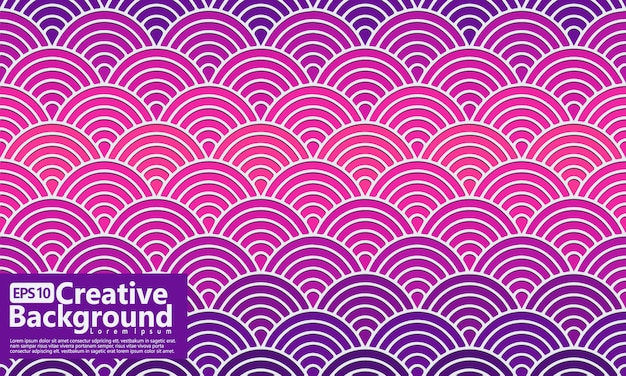 Gradation overlapping circles tile design vector, shapes seamless geometric pattern. background