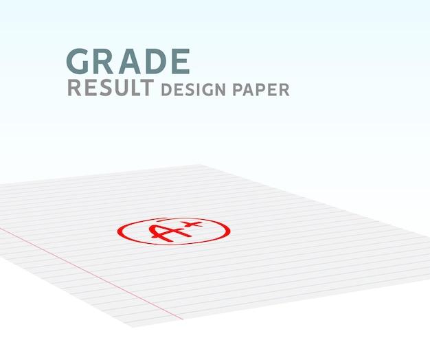 成績結果aプラス。赤い円で描かれたベクトルグレードaプラス。テスト試験マークレポート。
