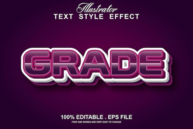 Grade text effect editable
